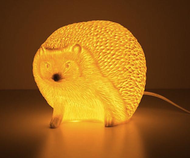 geschenkideen für tierliebhaber igel tischlampe