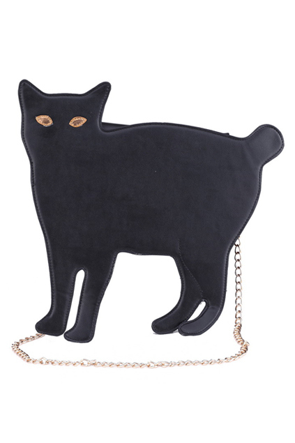tasche schwarze katze geschenkidee weihnachten last minute