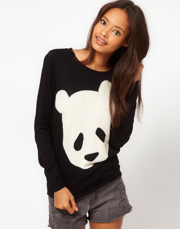 asos pulli mit pandabär geschenkideen für tierliebhaber