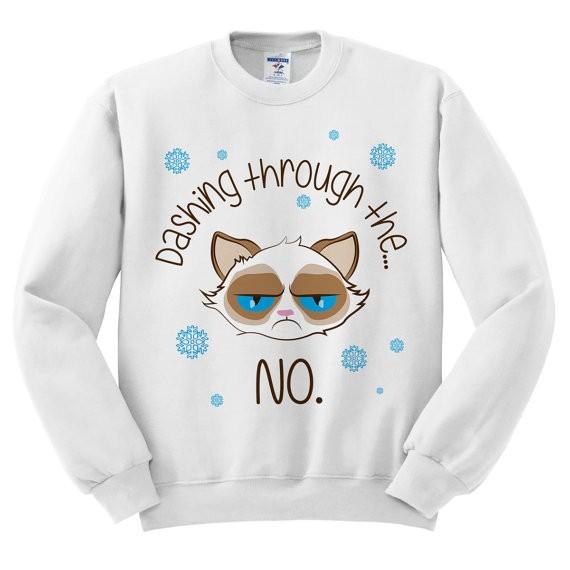 Etsy Grumpy Cat Pullover Weihnachten Winter