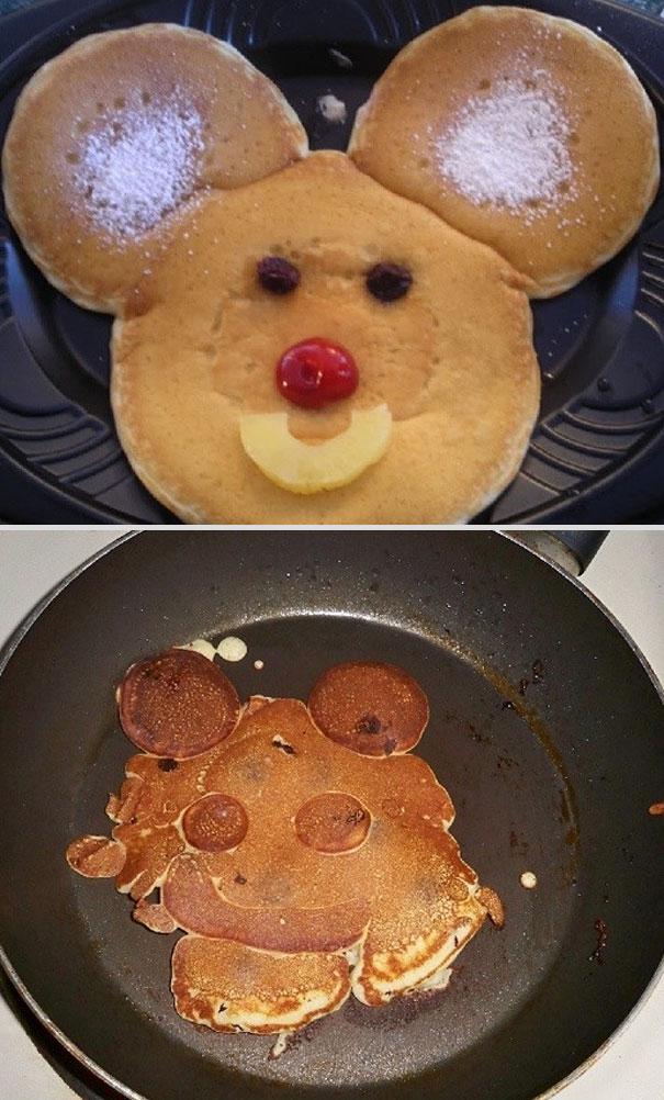 Kochfails Maus Pfannkuchen