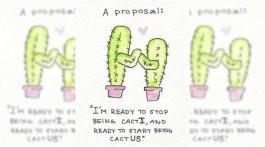 hochzeitsgeschenk slider kaktus