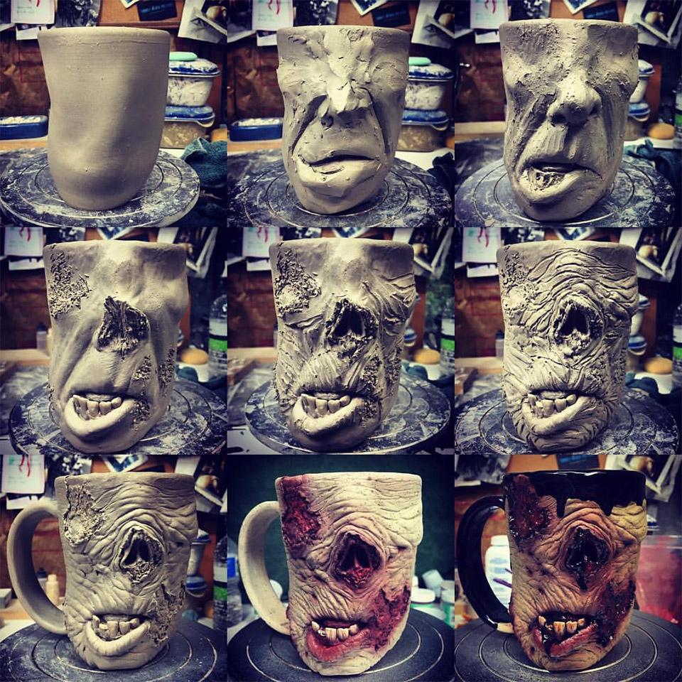 Realistische Zombie Tassen Kevin Merck