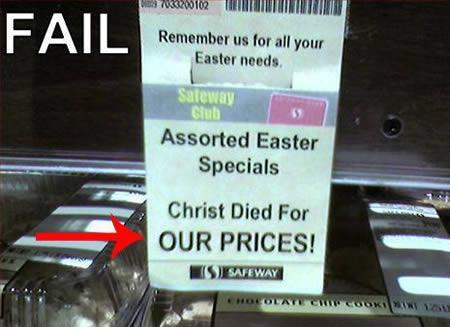 Verstörende Oster Fails