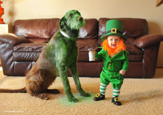 Kobold-Baby St. patrick's day lustig Alan Lawrence / That Dad Blog