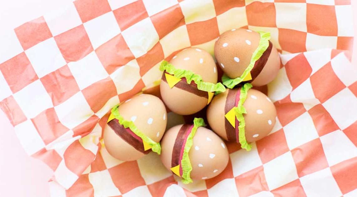 foto jeff mindell studio diy burger-ostereier basteln kreative ideen für ostern