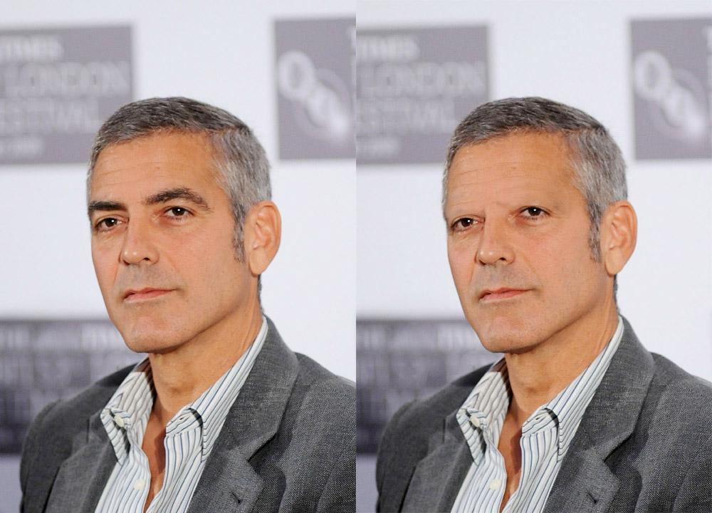 Geroge Clooney Augenbrauen