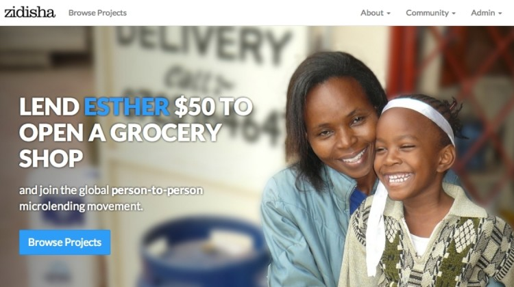 Mikrokreditplattform Zidisha