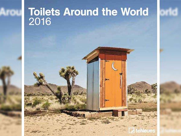 Seltsame Kalender toiletten 2016