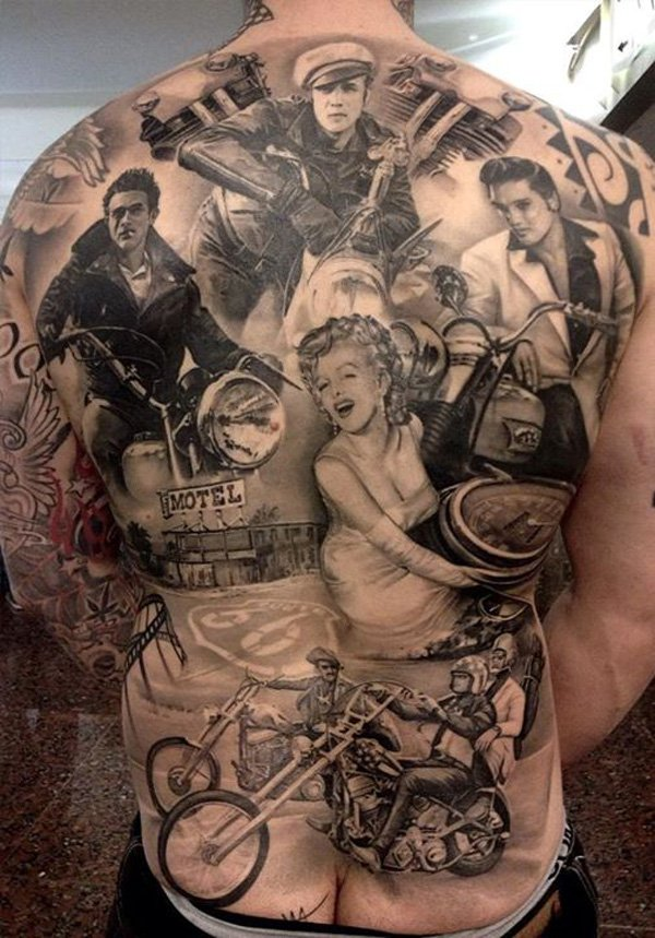 marilyn monroe james dean tattoo