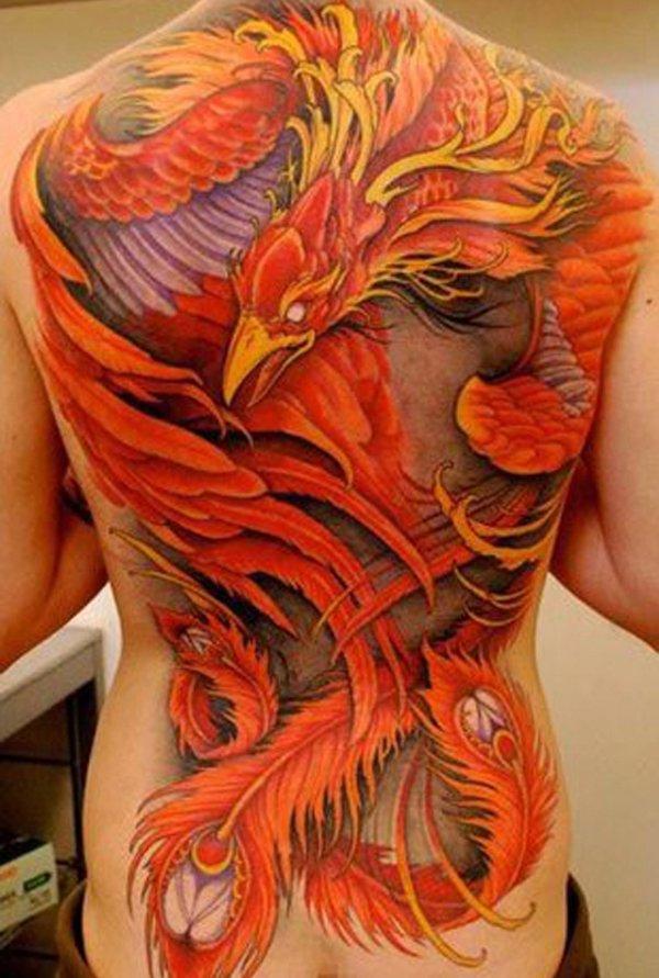 Phoenix rückentattoo