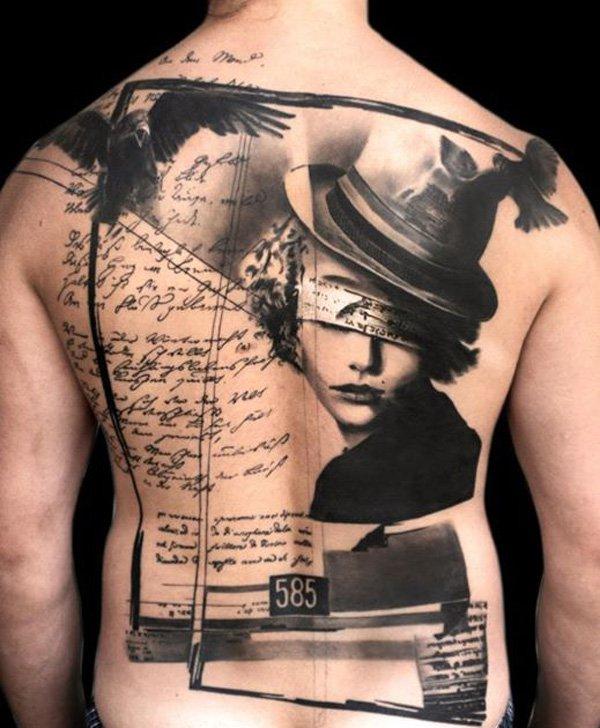 tattooideen surreal schwarz/weiß