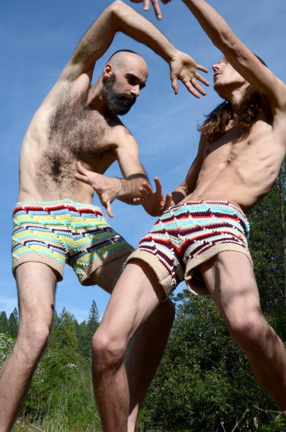 Häkelhosen kurz Crochet Booty Shorts Frühling Farben von Etsy