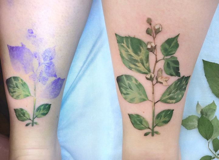 blumen tattoos realistisch rit kit