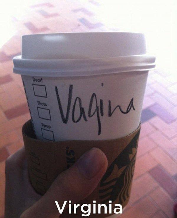 Schreibfehler bei Starbucks