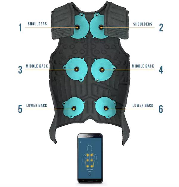 airawear pullover mit massagefunktion