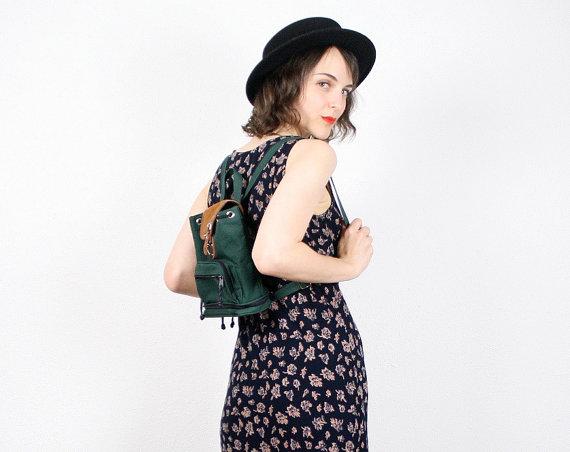 90er Fashion minirucksack grün