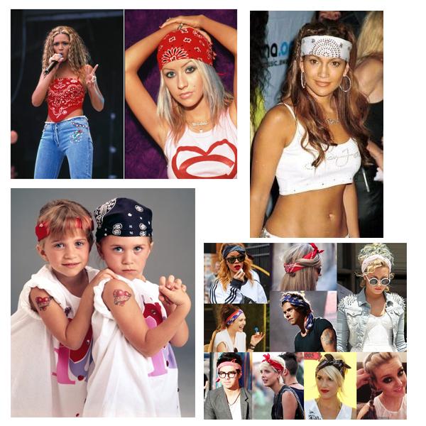 90er fashion bandana kopftuch