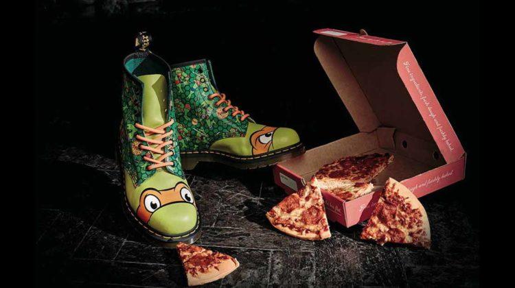 Dr. Martens Teenage Mutant Ninja Turtles Kollektion mikey slider pizza