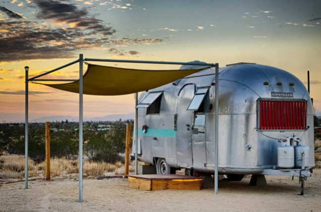 Kate's Lazy Desert glamping trailer