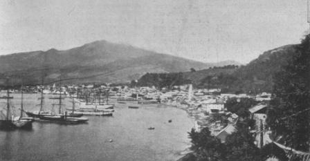 Mont Pelé (und St. Pierre) vor dem Ausbruch ...