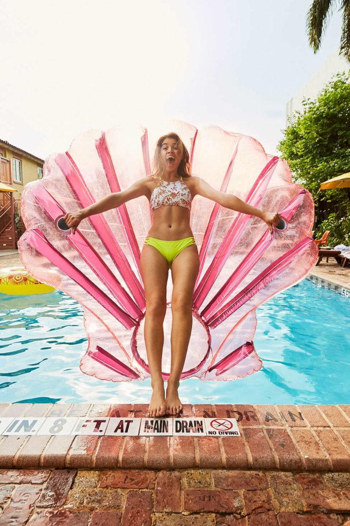 Shell Pool Float dinge die man aufblasen kann muschel