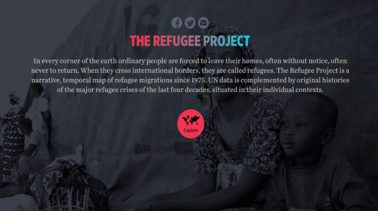 interaktive Plattform the refugee project world refugee day