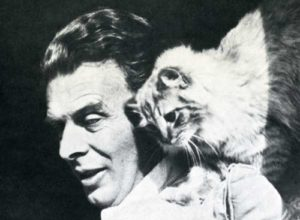 "Aldous Huxley: ""'My young friend,' I said, 'if you want to be a psychological novelist and write about human beings, the best thing you can do is to keep a pair of cats.'"""