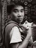 "Haruki Murakami: ""An old cat is a good friend to talk to."""