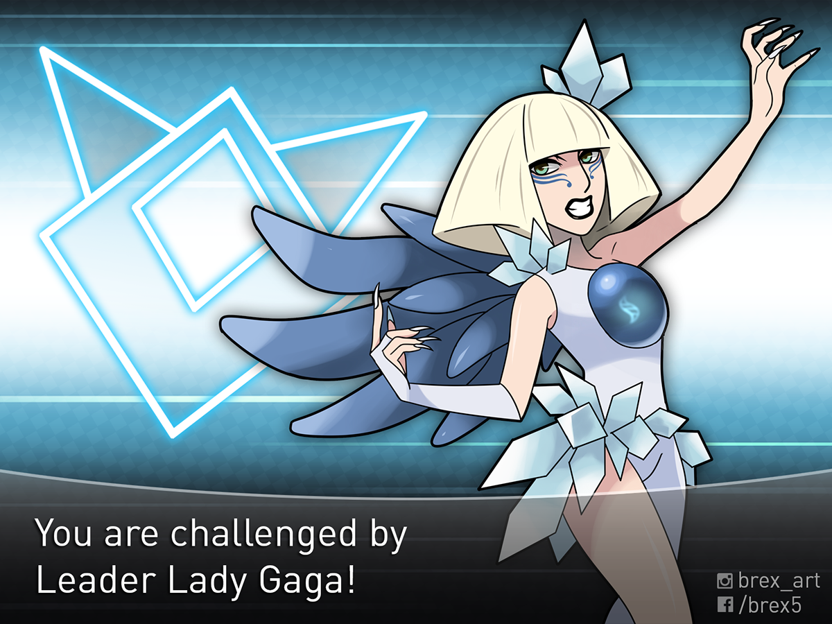 lady-gaga pokemon artwork beax5