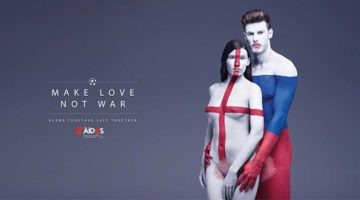 make love not war kampagne aides