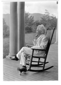 "Mark Twain: ""When a man loves cats, I am his friend and comrade, without further introduction."""