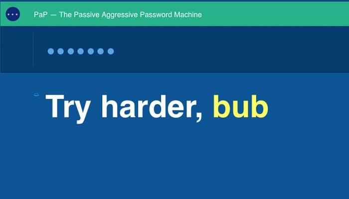 passiv aggressiver passwortgenerator