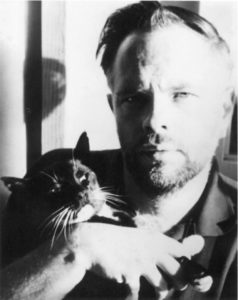 "Philip K. Dick: ""The most majestic cat in the universe would balance a carrot on his head for a bite of pork liver."" [Eyee in the Sky]"