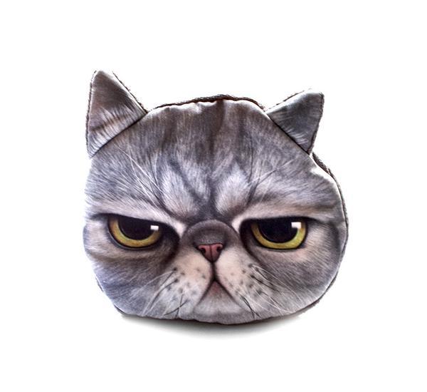 Katzenportemonnaie meowingtons geschenkidee für katzenfans grumpy cat