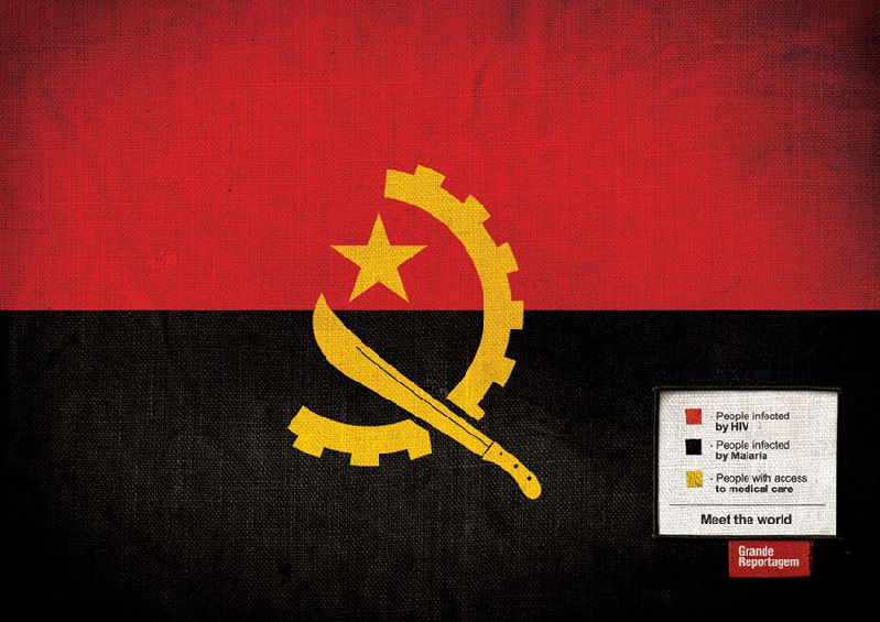 angola flagge infografik