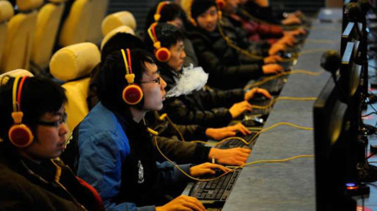 china cyber cafe onlinesucht