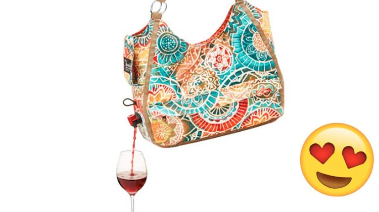 tasche mit weinspender wine dispenser tote bag