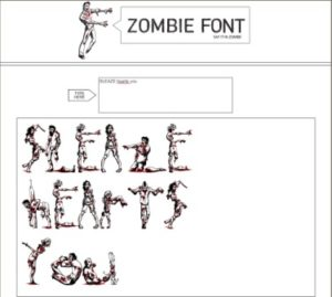 Zombiefont