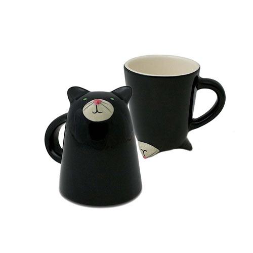 schwarze Katzen-Tasse