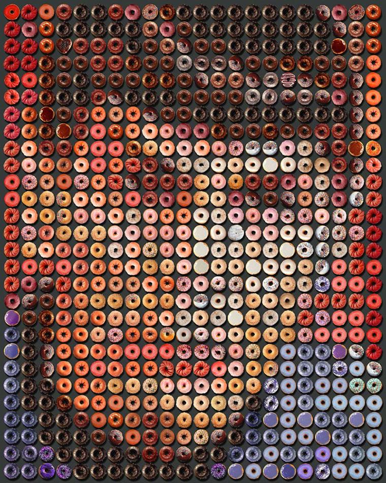 Portraits aus Donuts