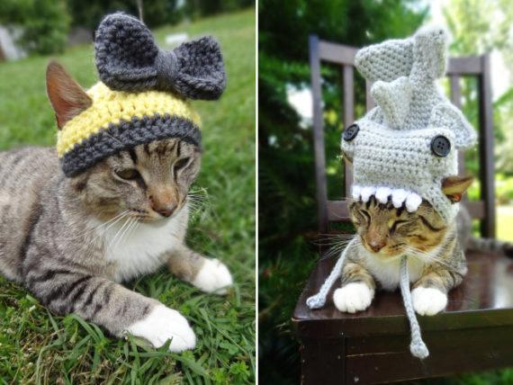 iheartneedlework mützen für katzen häkeln hobby etsy