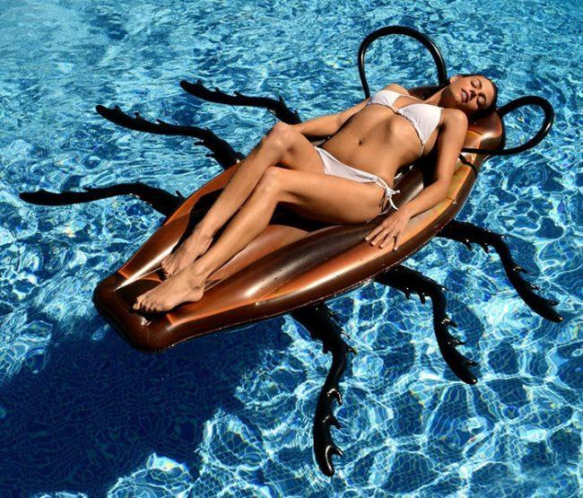 lustige luftmatratze kakerlake spielzeug pool baden strand