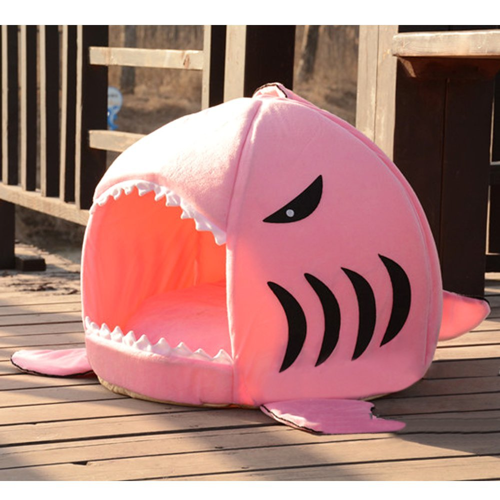 katzenhaus shark katzenmöbel pink