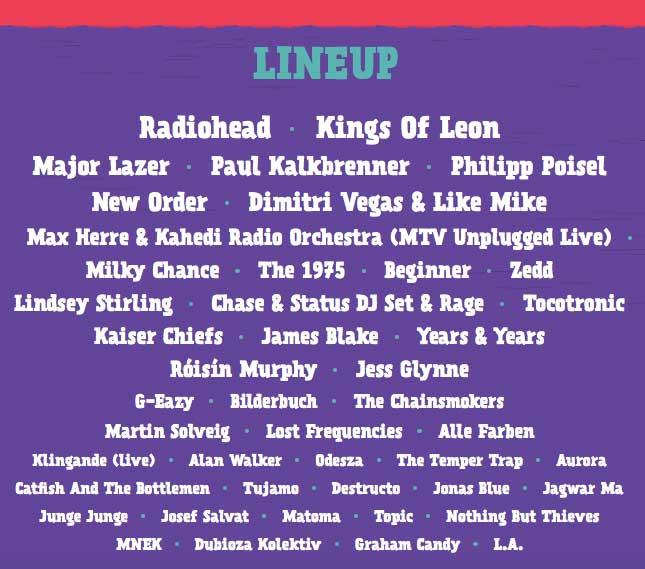 lineup lollapalooza berlin 2016
