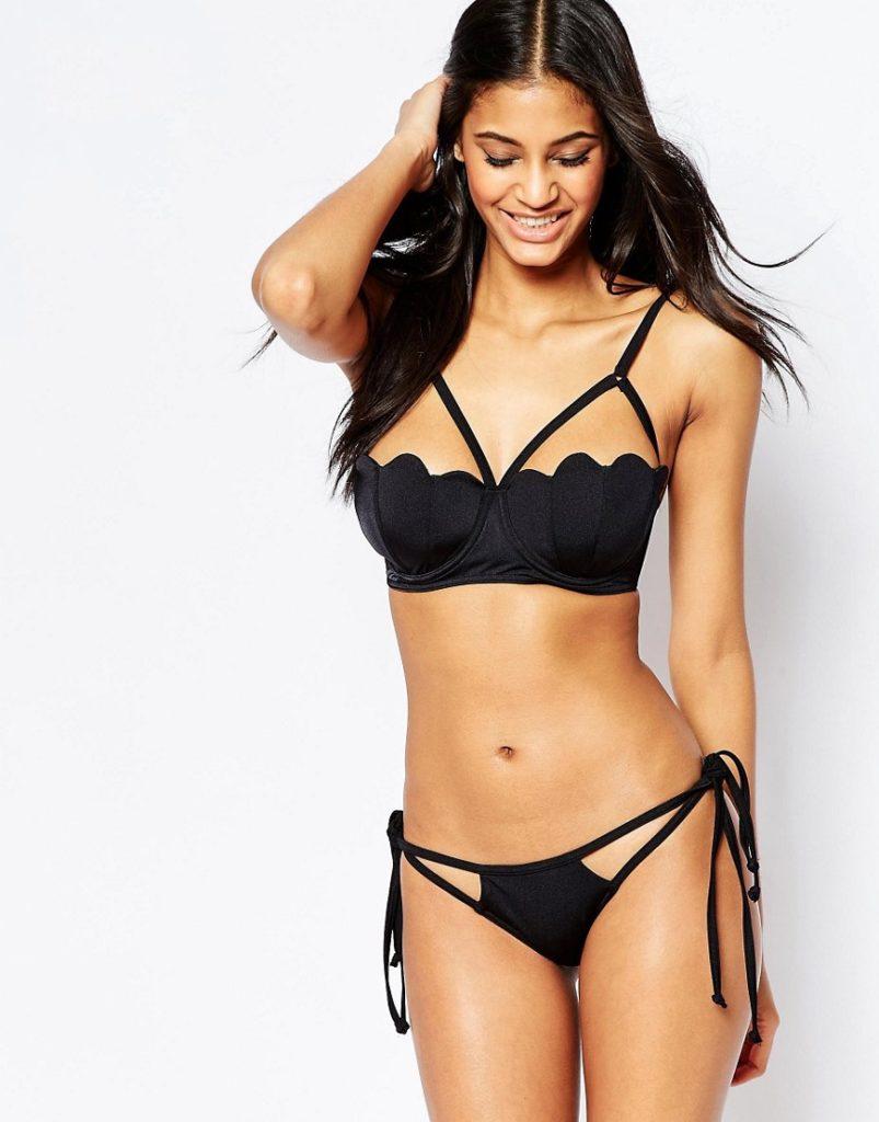 meerjungfrauen bikinis asos schwarz