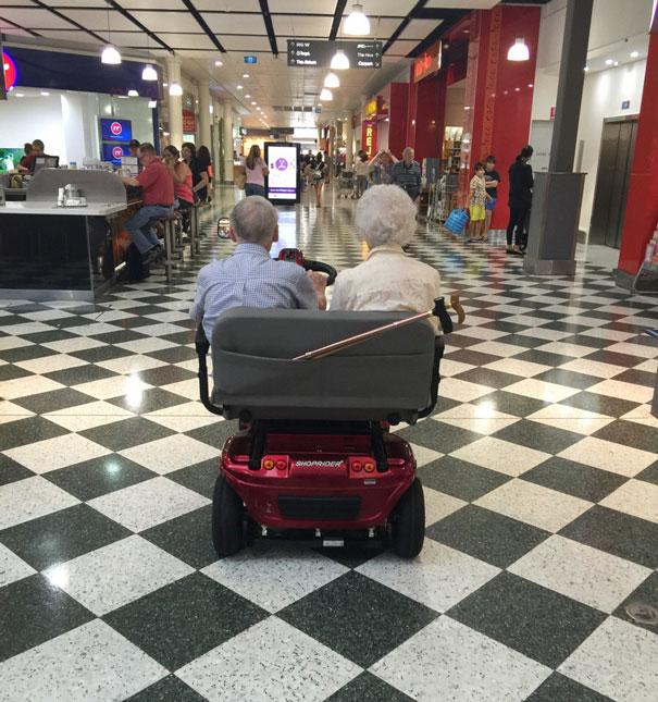 Freizeitspaß älterer Paare
