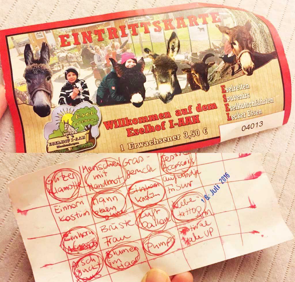 eselhof-bingo