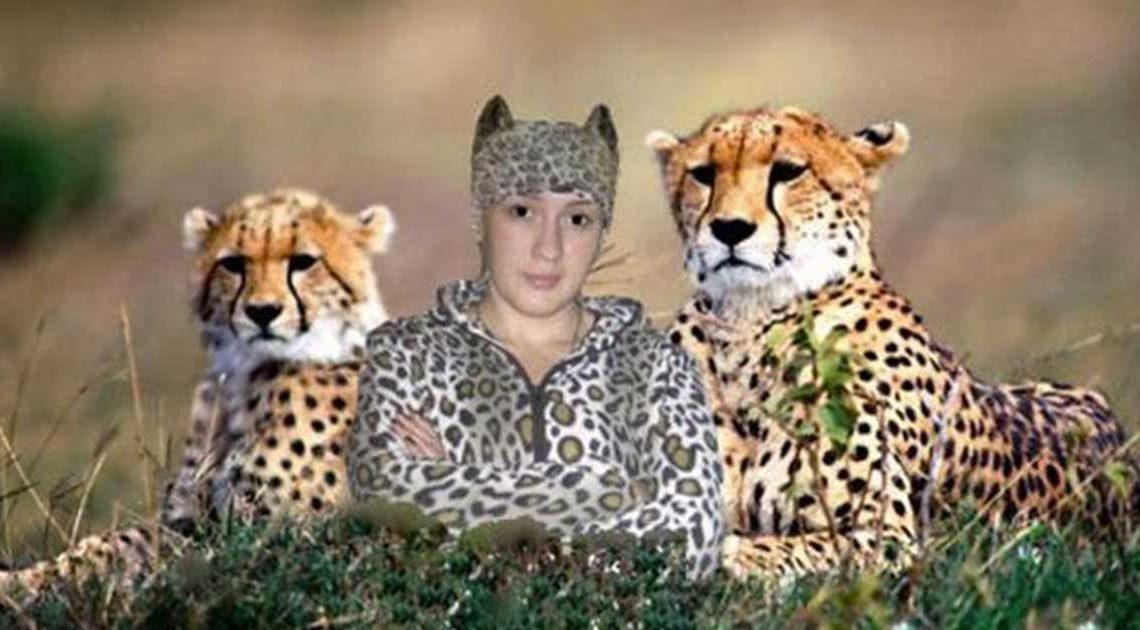 lustige photoshop-action in social media