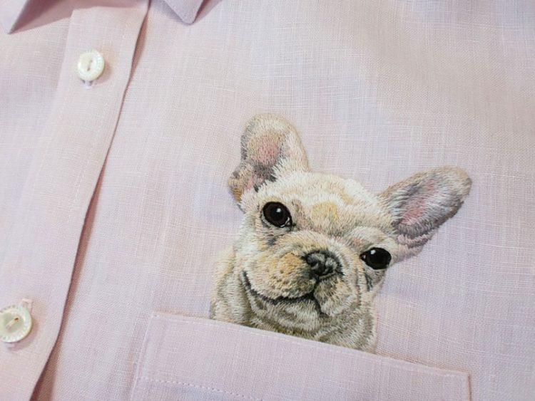 Hiroko Kubota Mode mit Hunden Stickereien